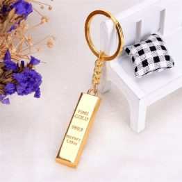 klíčenka zlatá cihla