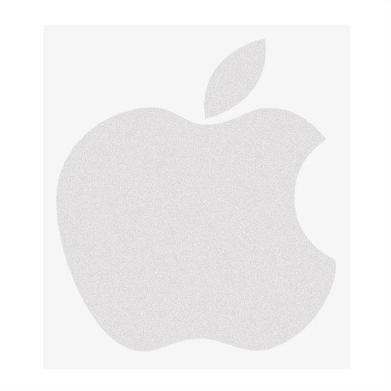 Samolepka apple stribrna