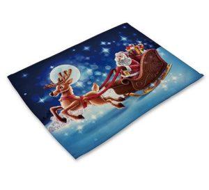 vánoční prostírání modré