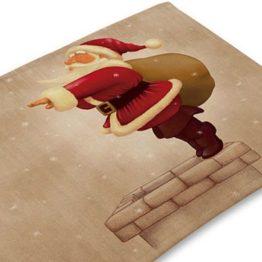 Vánoční prostírání se Santou