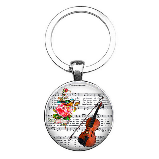 klíčenka housle a noty